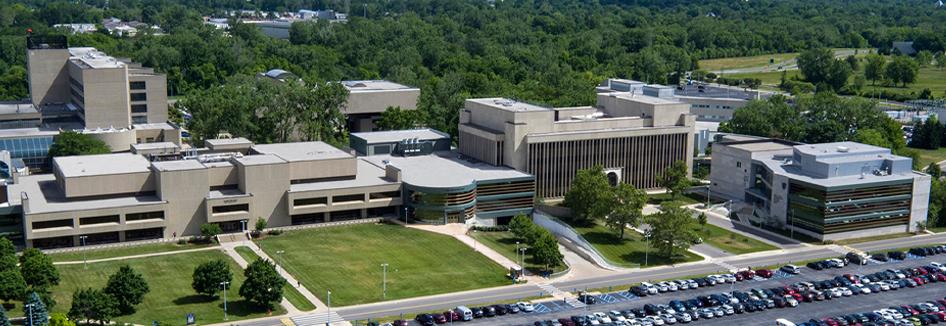 Aerial view of the University of Toledo Medical Center